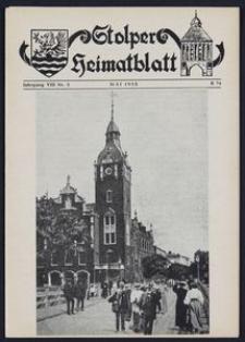 Stolper Heimatblatt für die Heimatvertriebenen aus der Stadt und dem Landkreise Stolp in Pommern Nr. 5/1955