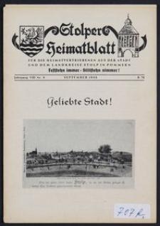 Stolper Heimatblatt für die Heimatvertriebenen aus der Stadt und dem Landkreise Stolp in Pommern Nr. 9/1955