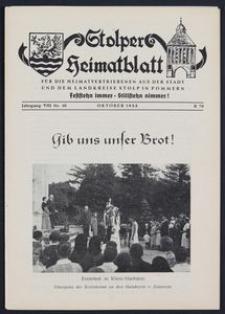 Stolper Heimatblatt für die Heimatvertriebenen aus der Stadt und dem Landkreise Stolp in Pommern Nr. 10/1955