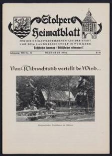 Stolper Heimatblatt für die Heimatvertriebenen aus der Stadt und dem Landkreise Stolp in Pommern Nr. 12/1955