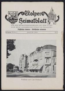 Stolper Heimatblatt für die Heimatvertriebenen aus der Stadt und dem Landkreise Stolp in Pommern Nr. 1/1954
