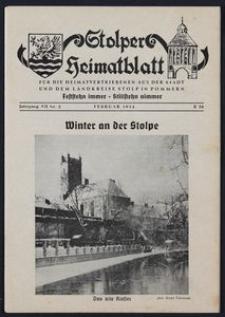 Stolper Heimatblatt für die Heimatvertriebenen aus der Stadt und dem Landkreise Stolp in Pommern Nr. 2/1954
