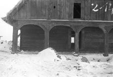 Chata zrębowa w budowie - Lipuska Huta [3]