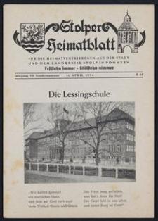 Stolper Heimatblatt für die Heimatvertriebenen aus der Stadt und dem Landkreise Stolp in Pommern Sondenrnummer/1954
