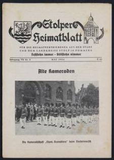 Stolper Heimatblatt für die Heimatvertriebenen aus der Stadt und dem Landkreise Stolp in Pommern Nr. 5/1954