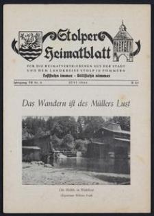 Stolper Heimatblatt für die Heimatvertriebenen aus der Stadt und dem Landkreise Stolp in Pommern Nr. 6/1954