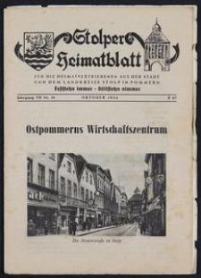 Stolper Heimatblatt für die Heimatvertriebenen aus der Stadt und dem Landkreise Stolp in Pommern Nr. 10/1954