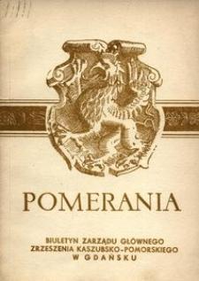 Pomerania : biuletyn Zarządu Głównego Zrzeszenia Kaszubsko-Pomorskiego, 1971, nr 5