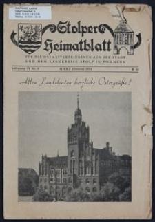 Stolper Heimatblatt für die Heimatvertriebenen aus der Stadt und dem Landkreise Stolp in Pommern Nr. 3/1951