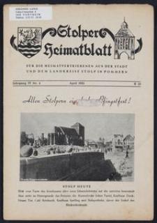 Stolper Heimatblatt für die Heimatvertriebenen aus der Stadt und dem Landkreise Stolp in Pommern Nr. 4/1951
