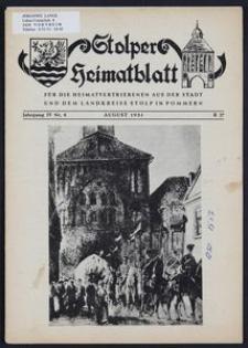 Stolper Heimatblatt für die Heimatvertriebenen aus der Stadt und dem Landkreise Stolp in Pommern Nr. 8/1951