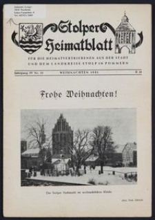 Stolper Heimatblatt für die Heimatvertriebenen aus der Stadt und dem Landkreise Stolp in Pommern Nr. 12/1951