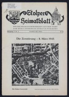 Stolper Heimatblatt für die Heimatvertriebenen aus der Stadt und dem Landkreise Stolp in Pommern Nr. 2/1952