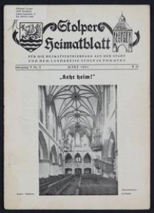 Stolper Heimatblatt für die Heimatvertriebenen aus der Stadt und dem Landkreise Stolp in Pommern Nr. 3/1952