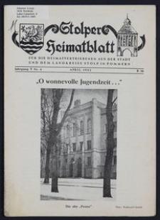 Stolper Heimatblatt für die Heimatvertriebenen aus der Stadt und dem Landkreise Stolp in Pommern Nr. 4/1952