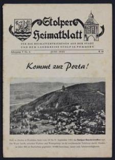 Stolper Heimatblatt für die Heimatvertriebenen aus der Stadt und dem Landkreise Stolp in Pommern Nr. 6/1952