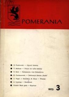 Pomerania : biuletyn Zarządu Głównego Zrzeszenia Kaszubsko-Pomorskiego, 1973, nr 3