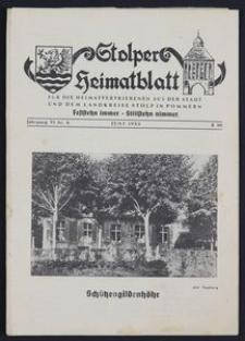 Stolper Heimatblatt für die Heimatvertriebenen aus der Stadt und dem Landkreise Stolp in Pommern Nr. 6/1953