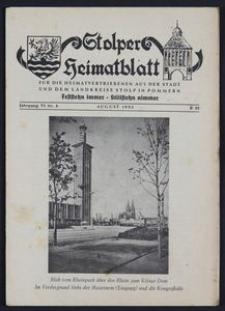 Stolper Heimatblatt für die Heimatvertriebenen aus der Stadt und dem Landkreise Stolp in Pommern Nr. 8/1953