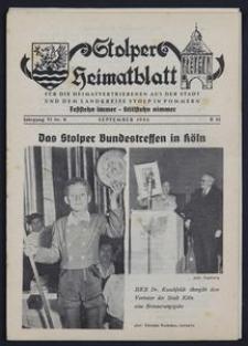 Stolper Heimatblatt für die Heimatvertriebenen aus der Stadt und dem Landkreise Stolp in Pommern Nr. 9/1953
