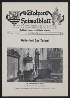 Stolper Heimatblatt für die Heimatvertriebenen aus der Stadt und dem Landkreise Stolp in Pommern Nr. 11/1953
