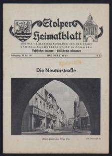 Stolper Heimatblatt für die Heimatvertriebenen aus der Stadt und dem Landkreise Stolp in Pommern Nr. 10/1953