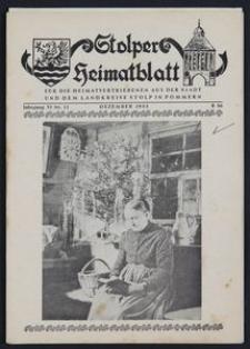 Stolper Heimatblatt für die Heimatvertriebenen aus der Stadt und dem Landkreise Stolp in Pommern Nr. 12/1953