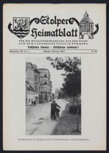 Stolper Heimatblatt für die Heimatvertriebenen aus der Stadt und dem Landkreise Stolp in Pommern Nr. 2/1959