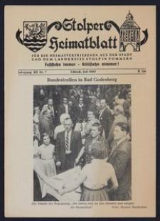 Stolper Heimatblatt für die Heimatvertriebenen aus der Stadt und dem Landkreise Stolp in Pommern Nr. 7/1959