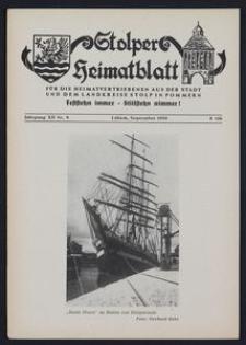 Stolper Heimatblatt für die Heimatvertriebenen aus der Stadt und dem Landkreise Stolp in Pommern Nr. 9/1959