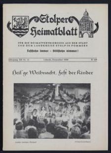 Stolper Heimatblatt für die Heimatvertriebenen aus der Stadt und dem Landkreise Stolp in Pommern Nr. 12/1959