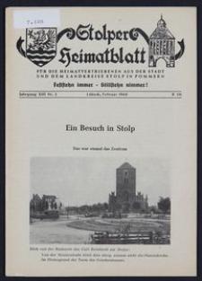 Stolper Heimatblatt für die Heimatvertriebenen aus der Stadt und dem Landkreise Stolp in Pommern Nr. 2/1960