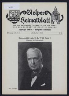 Stolper Heimatblatt für die Heimatvertriebenen aus der Stadt und dem Landkreise Stolp in Pommern Nr. 4/1960
