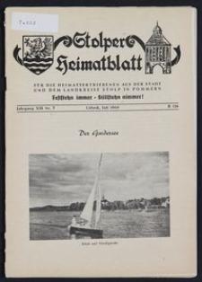 Stolper Heimatblatt für die Heimatvertriebenen aus der Stadt und dem Landkreise Stolp in Pommern Nr. 7/1960