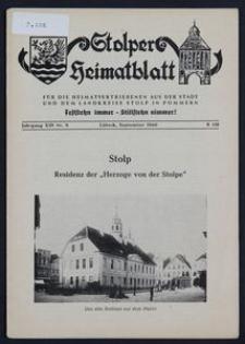 Stolper Heimatblatt für die Heimatvertriebenen aus der Stadt und dem Landkreise Stolp in Pommern Nr. 9/1960