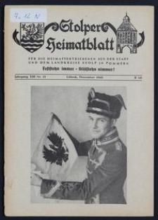 Stolper Heimatblatt für die Heimatvertriebenen aus der Stadt und dem Landkreise Stolp in Pommern Nr. 12/1960