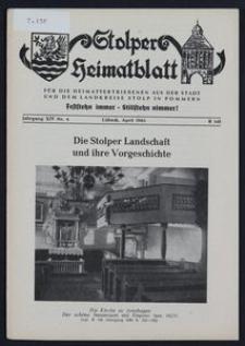 Stolper Heimatblatt für die Heimatvertriebenen aus der Stadt und dem Landkreise Stolp in Pommern Nr. 4/1961