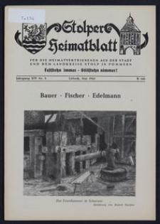 Stolper Heimatblatt für die Heimatvertriebenen aus der Stadt und dem Landkreise Stolp in Pommern Nr. 5/1961