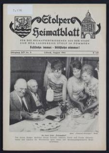 Stolper Heimatblatt für die Heimatvertriebenen aus der Stadt und dem Landkreise Stolp in Pommern Nr. 8/1961