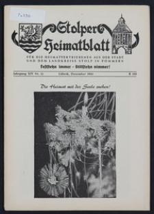 Stolper Heimatblatt für die Heimatvertriebenen aus der Stadt und dem Landkreise Stolp in Pommern Nr. 12/1961