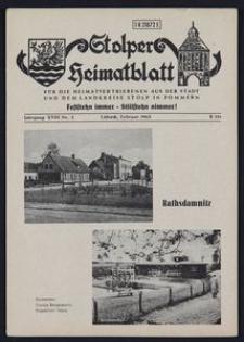 Stolper Heimatblatt für die Heimatvertriebenen aus der Stadt und dem Landkreise Stolp in Pommern Nr. 2/1965