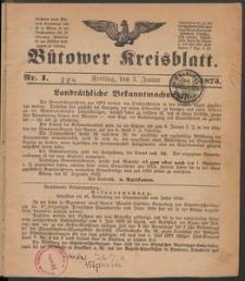 Bütower Kreisblatt 1873