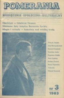 Pomerania : miesięcznik społeczno-kulturalny, 1983, nr 3