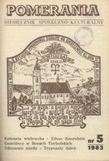 Pomerania : miesięcznik społeczno-kulturalny, 1983, nr 5