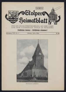 Stolper Heimatblatt für die Heimatvertriebenen aus der Stadt und dem Landkreise Stolp in Pommern Nr. 3/1964
