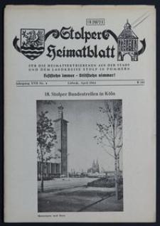 Stolper Heimatblatt für die Heimatvertriebenen aus der Stadt und dem Landkreise Stolp in Pommern Nr. 4/1964
