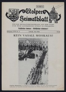 Stolper Heimatblatt für die Heimatvertriebenen aus der Stadt und dem Landkreise Stolp in Pommern Nr. 5/1964