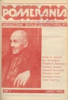 Pomerania : miesięcznik społeczno-kulturalny, 1983, nr 7
