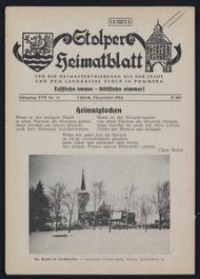 Stolper Heimatblatt für die Heimatvertriebenen aus der Stadt und dem Landkreise Stolp in Pommern Nr. 12/1964