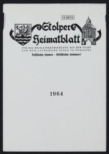 Stolper Heimatblatt für die Heimatvertriebenen aus der Stadt und dem Landkreise Stolp in Pommern, Stichwortverzeichnis 1964